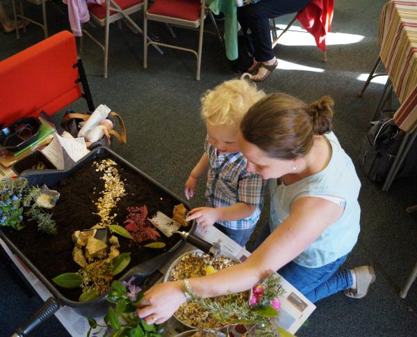 Building the Easter Garden at Cafe Church